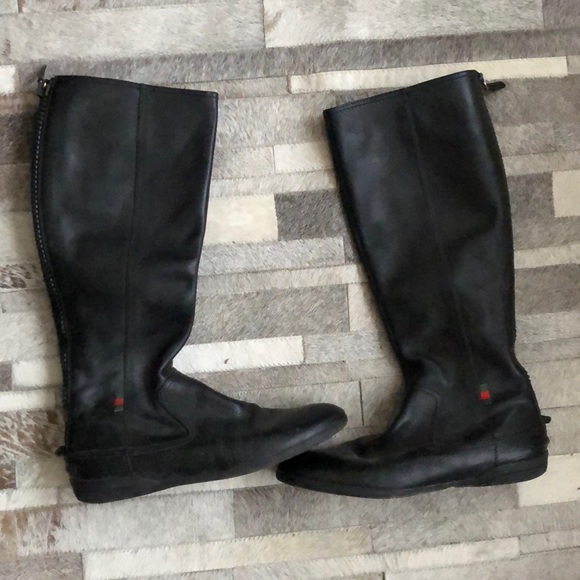 6ad1e6d9c9e6 Gucci Shoes - Amazing Authentic Black Leather GUCCI flat boots